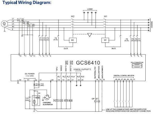 Marine Generator Wiring Diagram Schematic Symbols Diagram