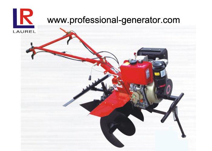 Paddy Land Mini Tiller Cultivator , 35cm Ridging Height Small Garden  Rototiller
