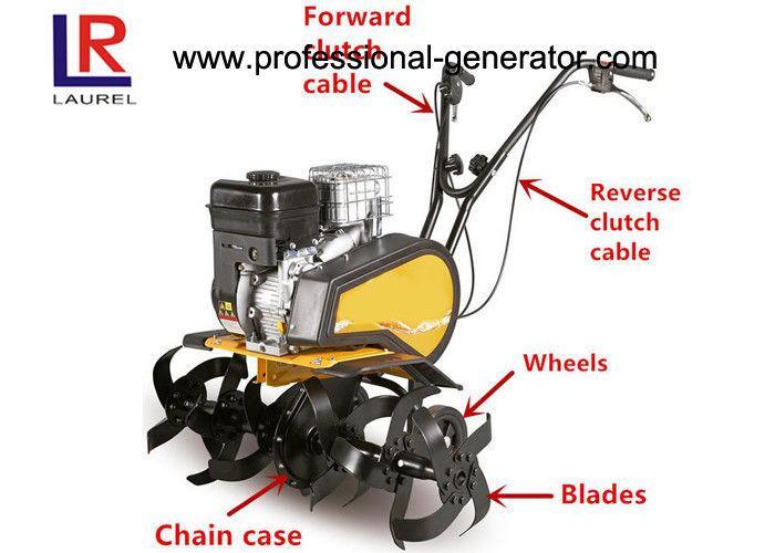 196cc 6.5HP Gasoline Small Garden Tiller With 1 Forward 1 Reverse For Farm  Cultivator
